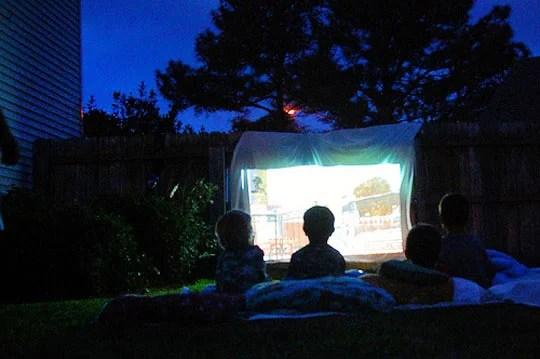 Apartment Therapy backyard movie