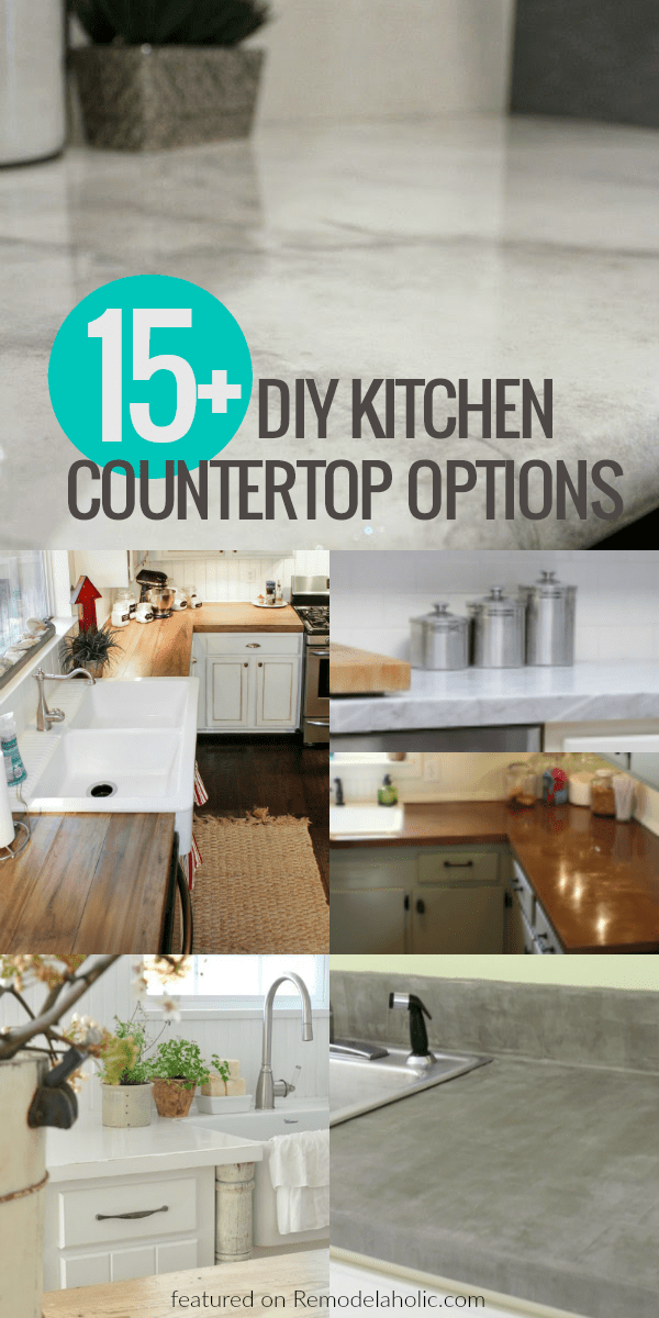 Update Your Kitchen On A Budget With These Affordable DIY Kitchen Countertop  Options    From
