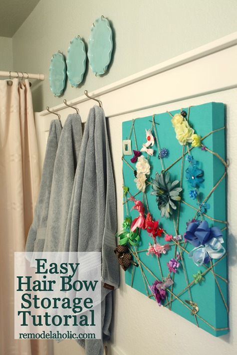 Easy Hair Bow Storage Tutorial