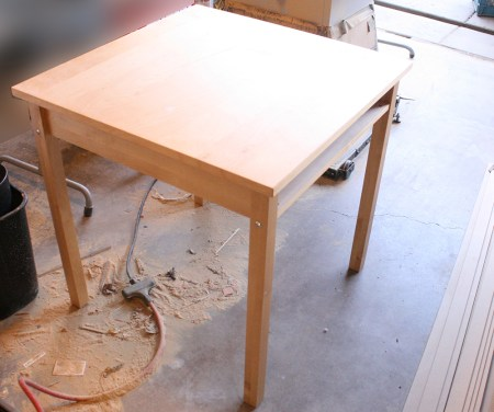 How to build a console table from a wooden card table tutorial (71)