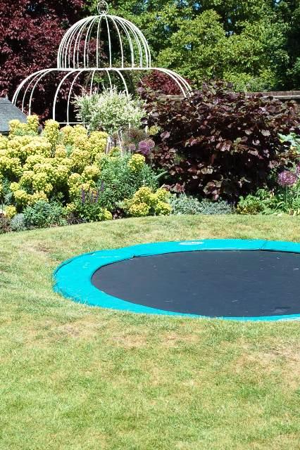 Little Green Fingers sunken trampoline