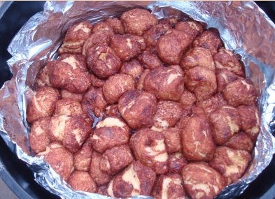 Camping with Gus monkey bread