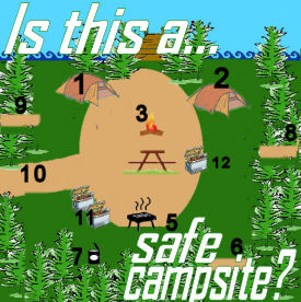 Camping with Gus safe camp