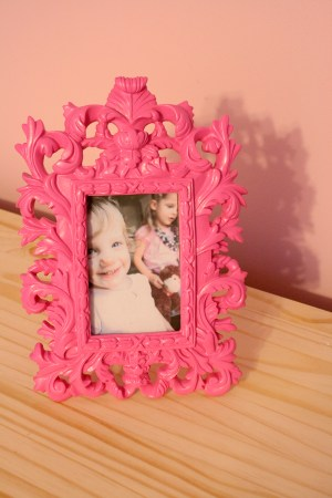 Girls pink and navy bedroom decorations (3)