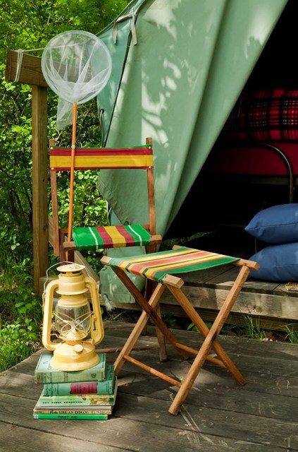 The Lettered Cottage boy scout tents
