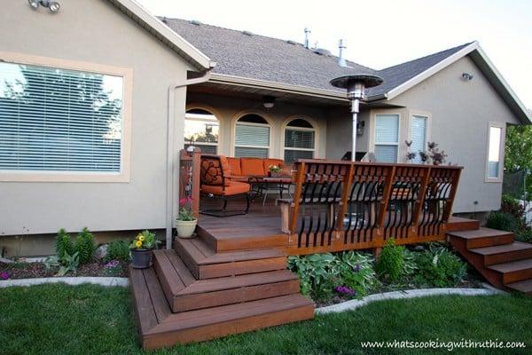 refurbished backyard deck