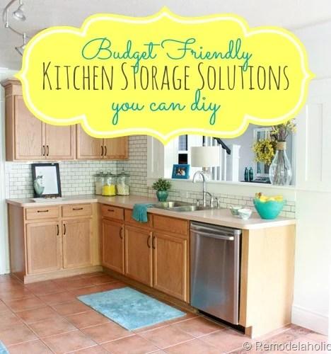 budget friendly kitchen storage ideas