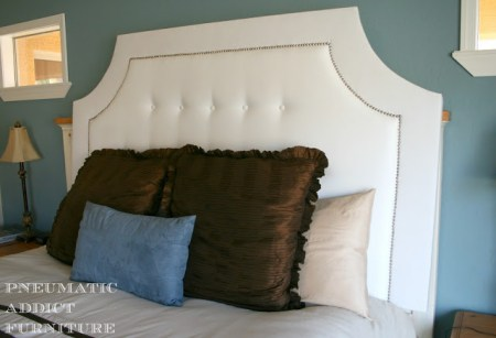 build a nail head tufted headboard