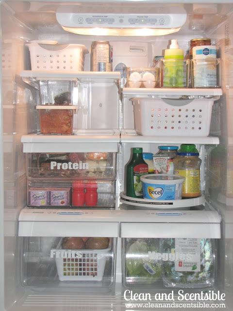 organized fridge ideas