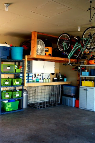 fully organized garage, IHeart Organizing