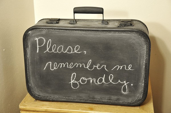 chalkboard painted suitcase, Sincerely by Ashleigh