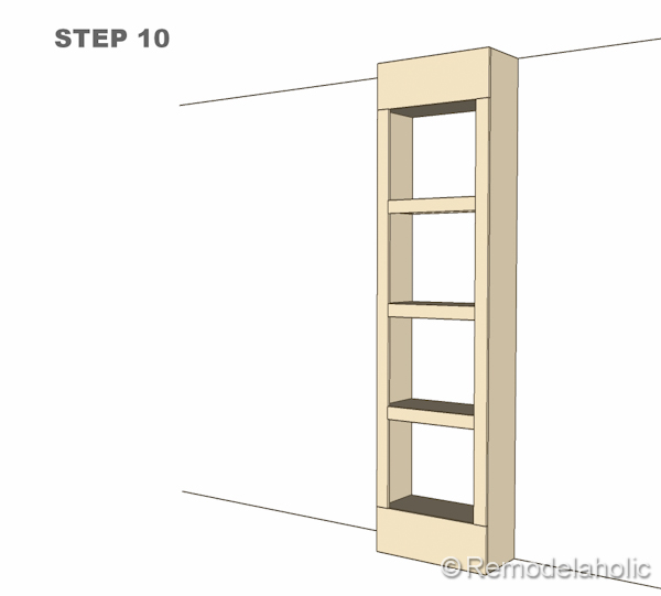 step 10 bult-in bookshelves