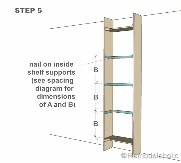 step 5 bult-in bookshelves