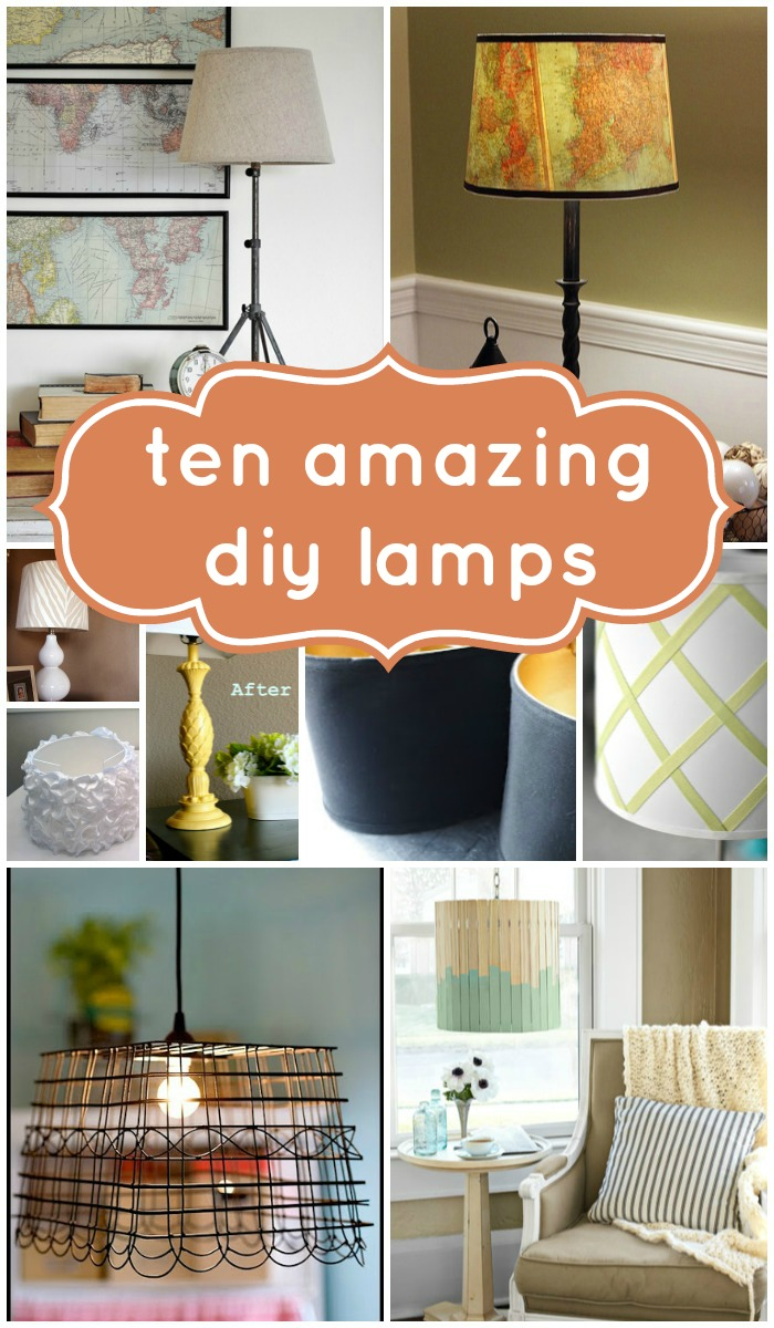 Remodelaholic top 10 beautiful diy lamps and link party make it yourself lamps and shades are quick and easy to update on a budget here are ten of remodelaholics favorite diy lamp and lamp shade ideas solutioingenieria Images
