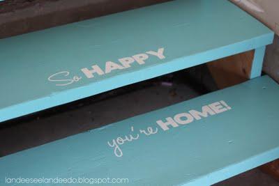 paint welcoming garage steps, Landee See Landee Do