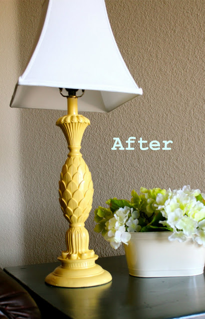 simple yellow lamp diy update
