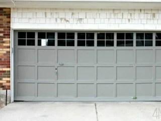 add trim to plain garage door, 4 Men 1 Lady