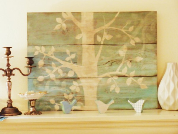anthropologie inspired painted art canvas DIY art project