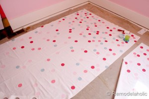 confetti drapes tutorial polka dot drapes girls bedroom window coverings window panels (18)