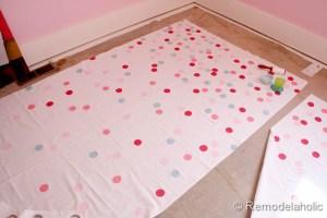 confetti drapes tutorial polka dot drapes girls bedroom window coverings window panels (18)