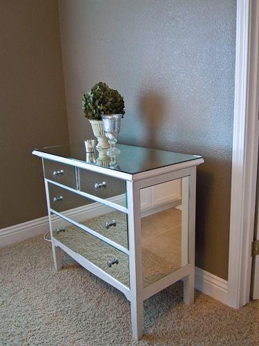 diy mirrored dresser furniture tutorial