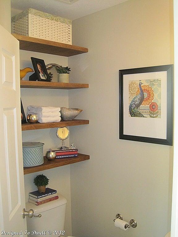 floating bathroom shelves tutorial