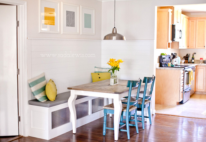 Get This Look: Sunny Corner Banquette | Remodelaholic