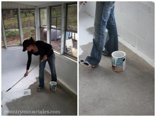 paint a concrete floor