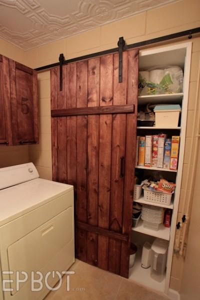 sliding barn door kitchen pantry 25 DIY Door Ideas   DIY