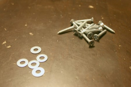 tuft a headboard using screws and washers