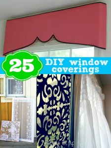 25 DIY window covering ideas from Remodelaholic.com #windows #curtains #shades @Remodelaholic