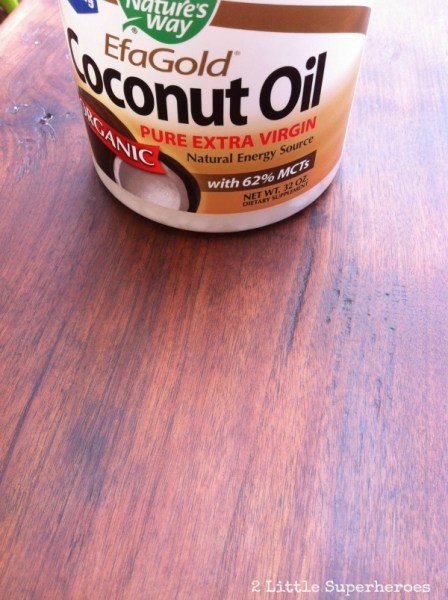 7-19 refinishing furniture with coconut oil, 2 Little Superheroes