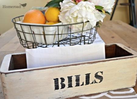 7-5 homeroad, drawer bill holder