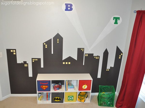 Superhero Room Skyline 2