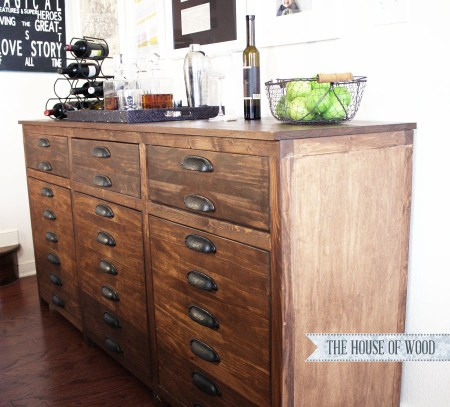 The House of Wood, bar cabinet sideboard