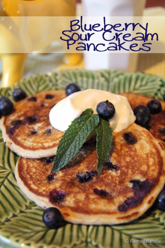 blueberry sour cream pancakes recipe