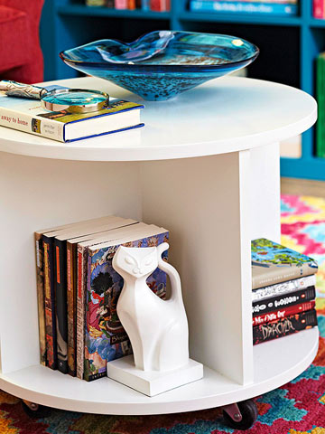 Top ten diy ottomans remodelaholic diy ottomans build a circular bookshelf storage ottoman bhg solutioingenieria Choice Image