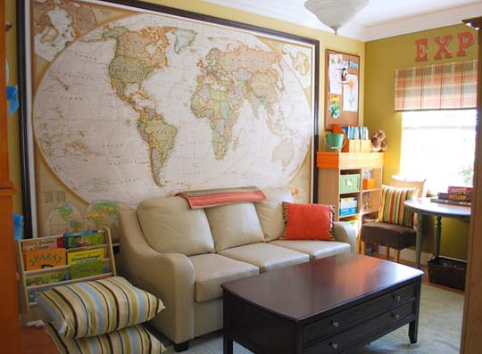 colorful organized family room, Centsational Girl