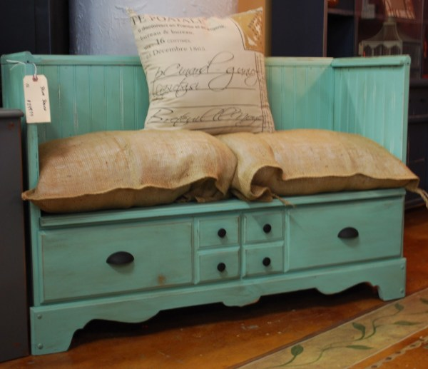 repurposed dresser to bench, Chic Staging and Design