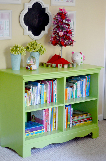 repurposed dresser to child's bookshelf, Yankee Drawl