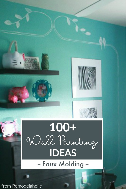 Faux Molding Wall Paint Ideas From Remodelaholic