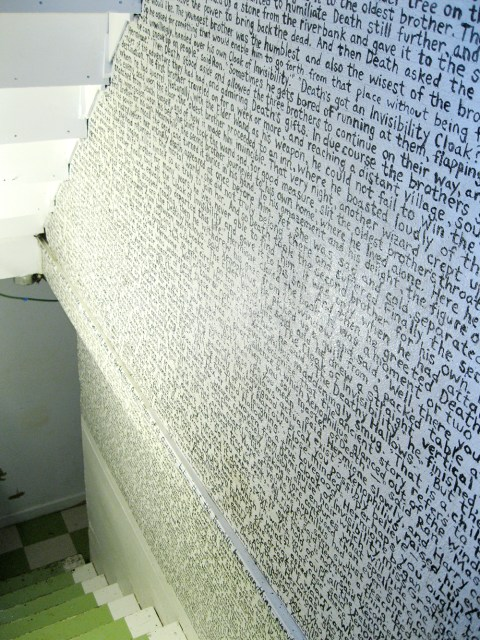 favorite book wall text