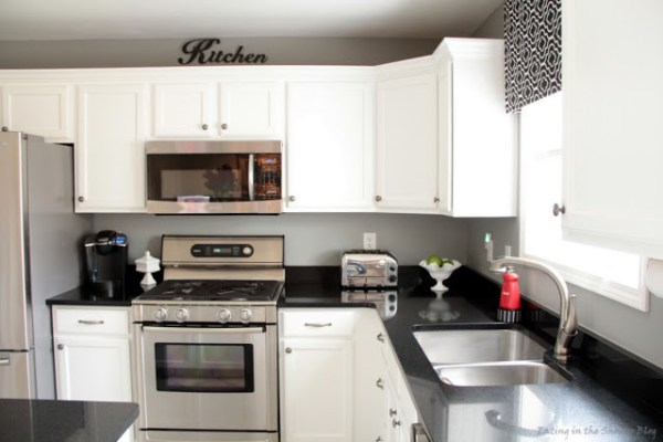 high quality painted white kitchen cabinets and new appliances