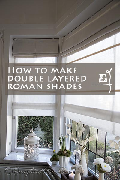how to make double-layered roman window shades, Songbird Blog