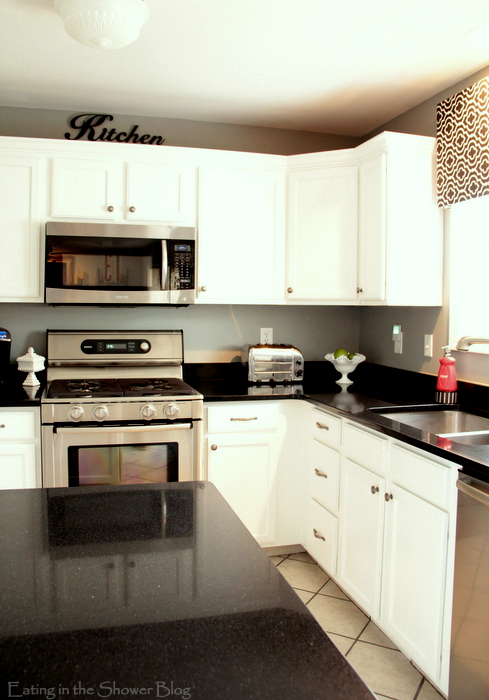 kitchen makeover - beautiful black countertops