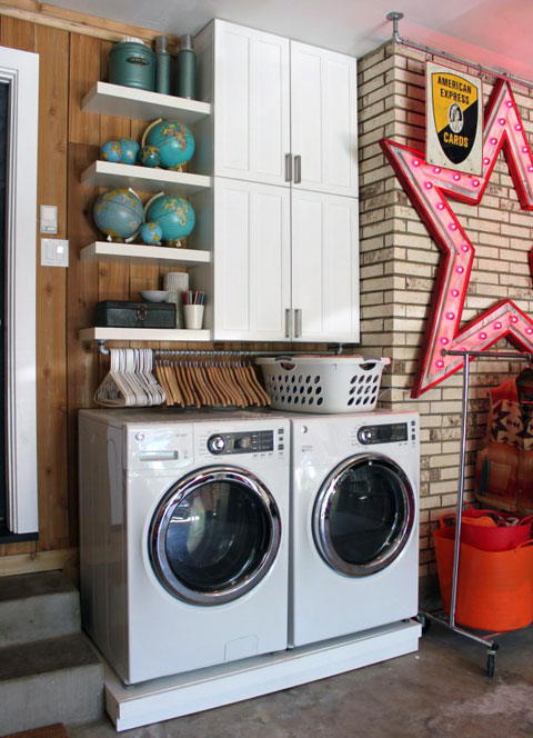 laundry space in the garage, I Heart Organizing reader feature