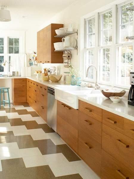 modern wood kitchen cabinets, BHG