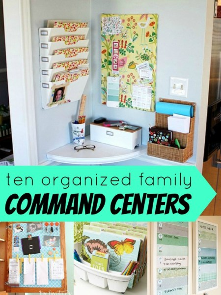 organized family command centers at Remodelaholic