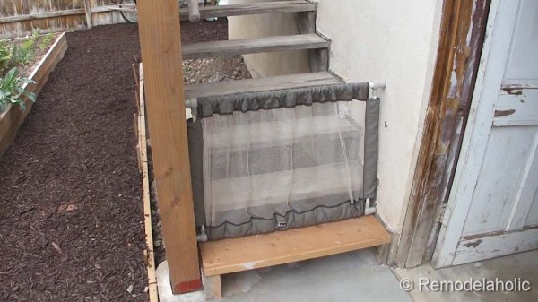 Diy Outdoor Tall Baby Gate For Deck Stairs