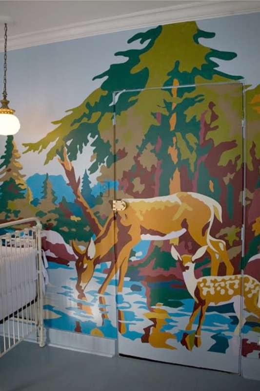 paint-by-number-mural-creative painting-ideas-interior-painting-ideas-nursery-3